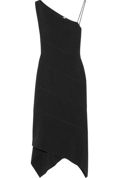 Dion Lee - One-shoulder Paneled Stretch-crepe Midi Dress - Black - UK12