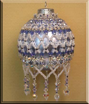 Beaded Christmas Ornament Pattern:  Jubilee Christmas Ornament; Beadwork Designs by Joanie Jenniges