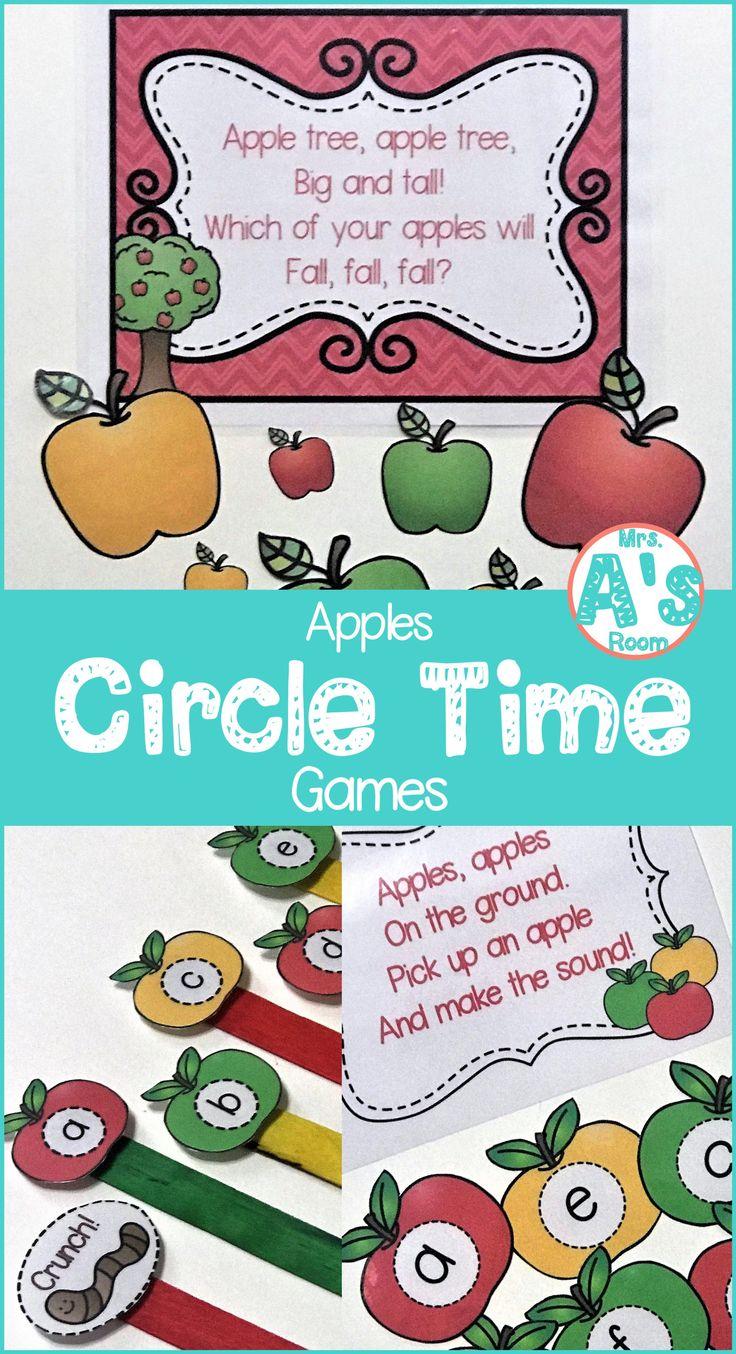 Apple-Themed Circle Time Games | Preschool apple ...