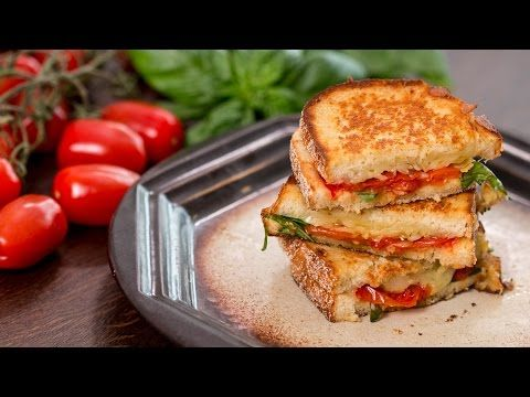Roasted Tomato Grilled Cheese Sandwich :: Home Cooking Adventure