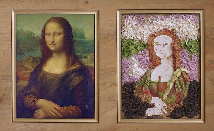 Фуд-арт: Мона Лиза из еды
