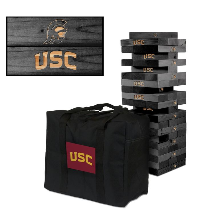 Giant Tumble Tower Game - University of Southern California USC Trojans