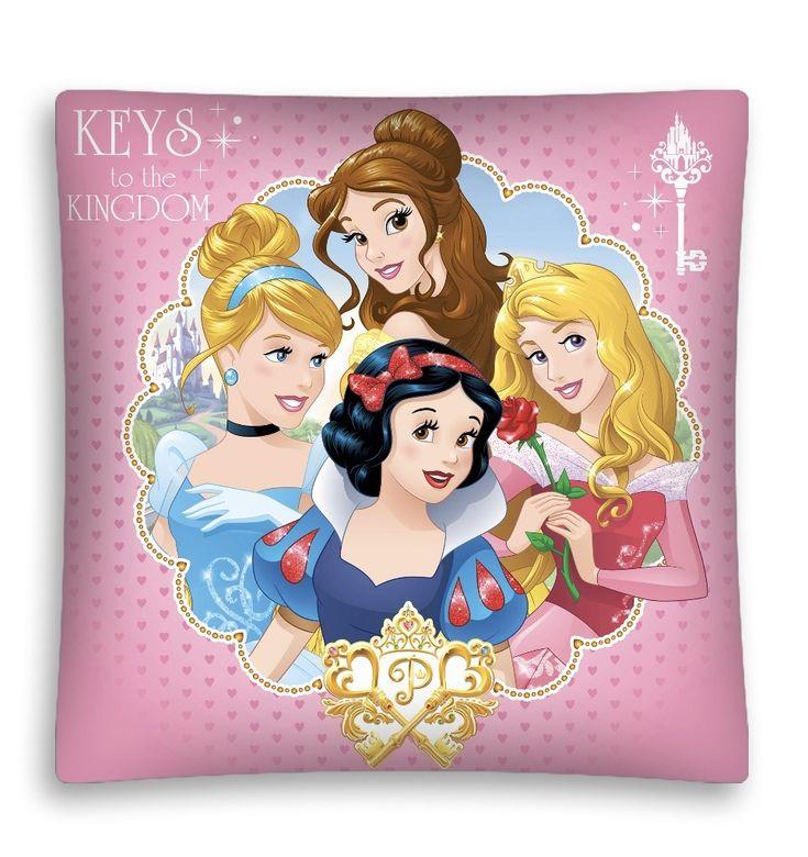 Poszewka dziecięca w kolorze różowym z księżniczkami