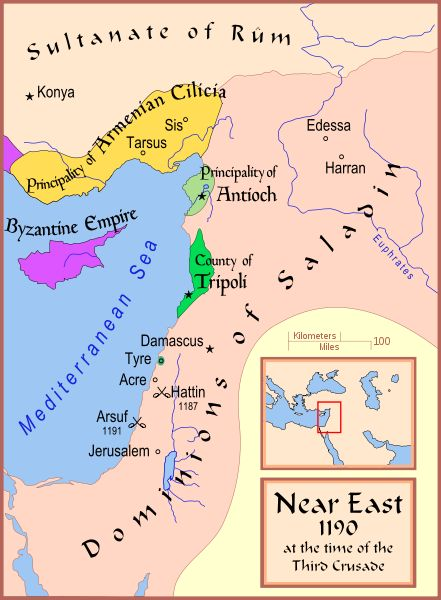 Crusader States 1190. This Day in History: Apr 08, 1271: In Syria, sultan Baybars conquers the Krak of Chevaliers. http://dingeengoete.blogspot.com/