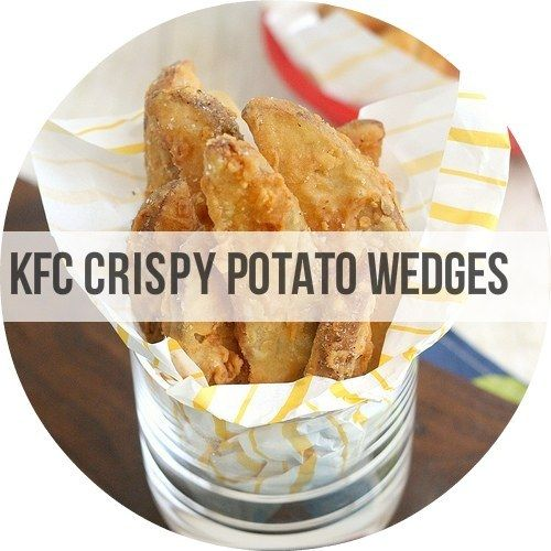 Homemade KFC Potato Wedges - http://traceysculinaryadventures.com/2012/07/copycat-kfc-crispy-potato-wedges.html#.UcOAr5XpS3c  |  Copycat Recipes For Your Favorite Fast Foods