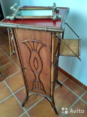 Старинный бамбуковый шкафчик кон.19-нач.20 вв— фотография №5