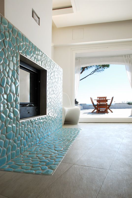 fireplace in Villa TiMe