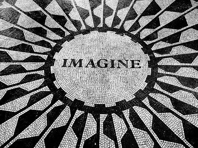 "Calçada Portuguesa (Portuguese Pavement); ""Strawberry Fields"" - Tribute to John Lennon, Central Park, New York"