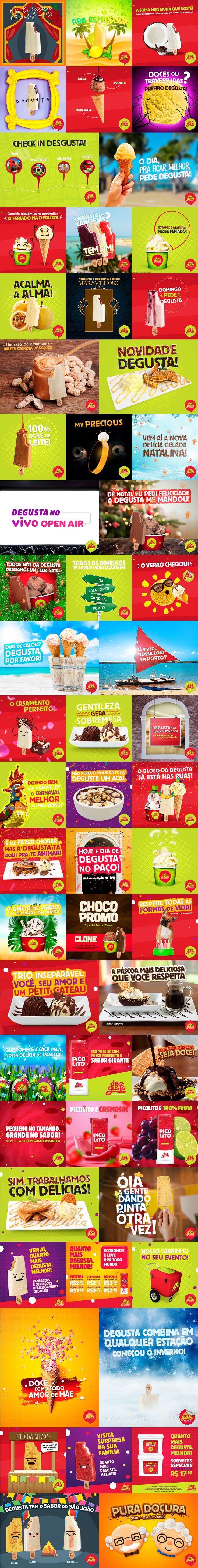 Degusta | Social Media on Behance