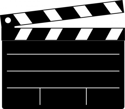 free drive in movie clip art | Clapper-board clip art Vector clip art - Free vector for free download