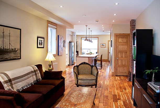 Brock Street Renovation - The beautiful walnut floors shine throughout and unify the house top to bottom.