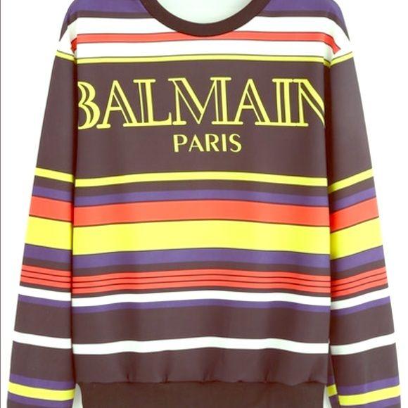 Balmain sweater Colorful balmain sweater Balmain Sweaters Crew & Scoop Necks
