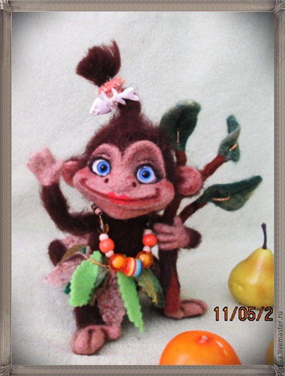 Купить Обезьянка Чи-чи-чи! - коричневый, обезьянка, обезьяна, мартышка, чи-чи-чи