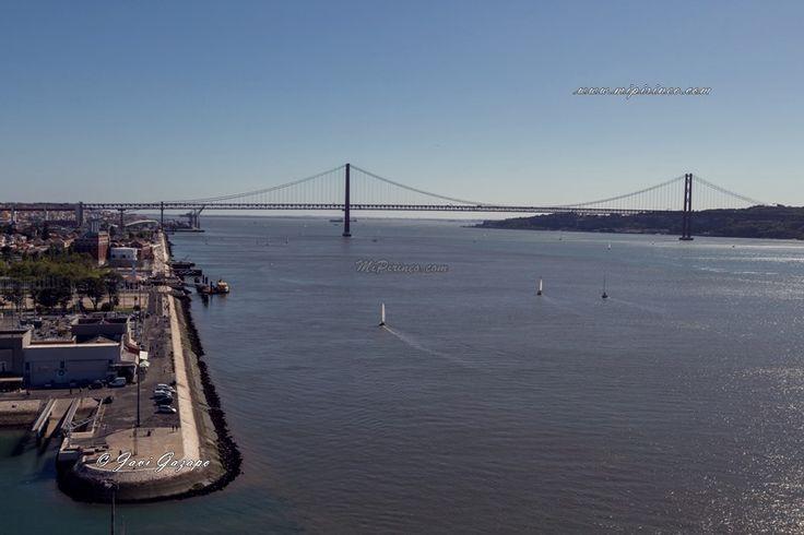 Vistas al Puente 25 de Abril desde el Monumento a los Descubrimientos. #Belém, #Lisboa, #Lisbon