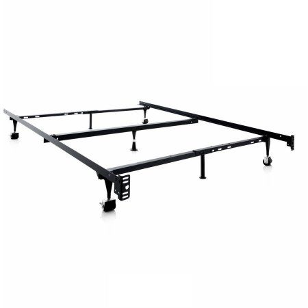 Structures Adjustable Metal Bed Frame, Queen, Full XL, Full, Twin XL, Twin, Black