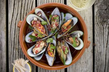 Mussels in a vinaigrette dressing