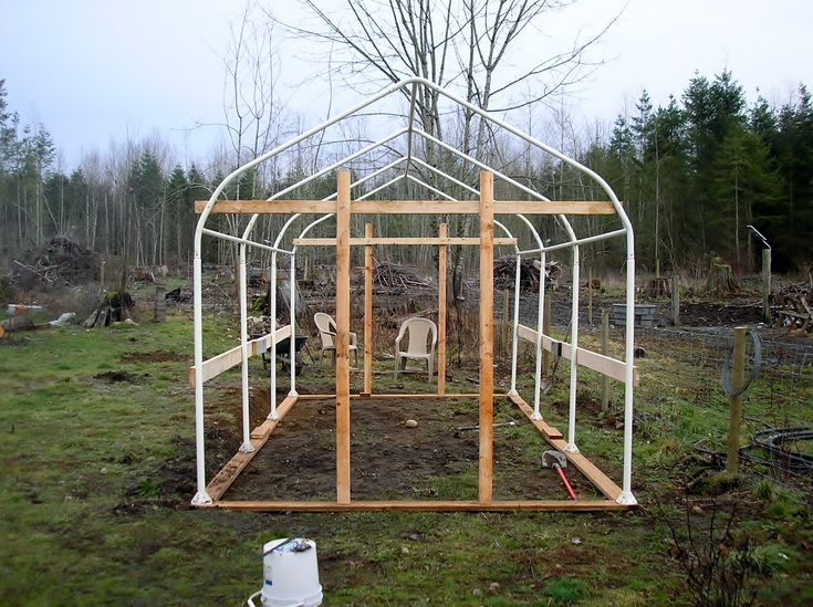 Carport Tube Frame Greenhouse Built by Jerry and Wendy This was a standard 10'X20' Costco carport that had lost it's cover. We purchased it for $50. They seem to be flimsy, and maybe that's what ca...