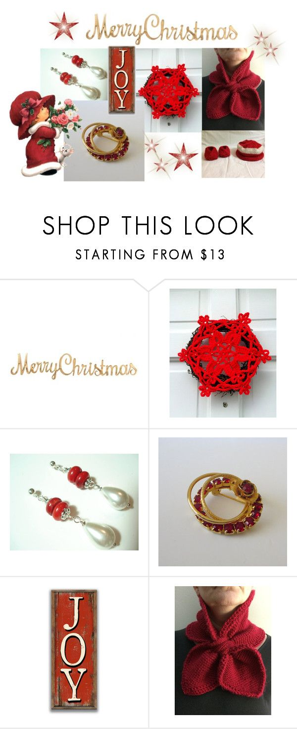 Merry Christmas by cozeequilts on Polyvore featuring Hostess