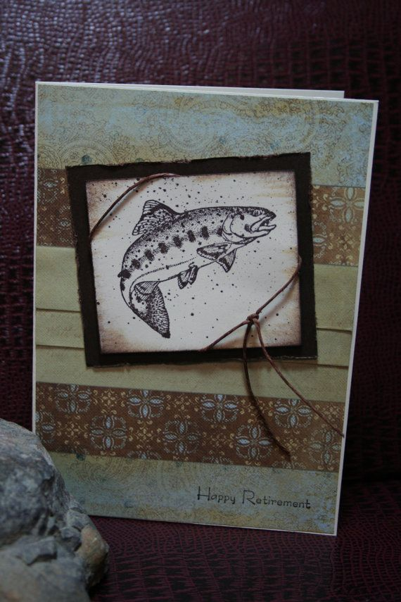 Retirement Greeting Card Male by StampnNScrapn on Etsy
