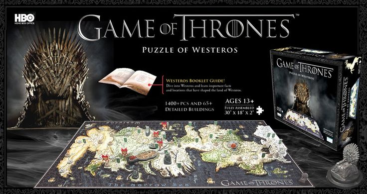4d Cityscape Game of Thrones Westeros Puzzle is one amazing 3D puzzle map!You'll love building this multi-layered puzzle map of Westeros in all it's Glory.