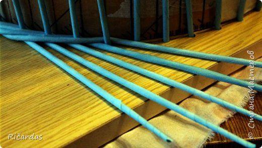 Мастер-класс Поделка изделие Плетение Одежда для бытового газового баллона + МК Бумага газетная Трубочки бумажные фото 12