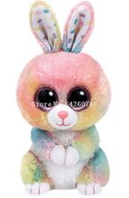 Nova Vaias Ty Gorro Olhos Grandes Animais Empalhados Bubby Multicolor Crianças Coelho Brinquedos de Pelúcia Para As Crianças Presentes 15 CM(China)