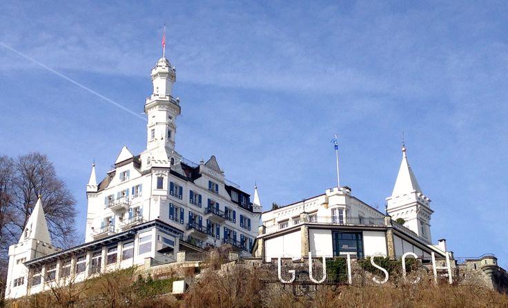 Luzern Hotel Château Gütsch #Luzern #Schweiz