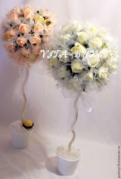 В НАЛИЧИИ Свадебные деревья, Свадебные топиарии, Дерево - бледно-розовый