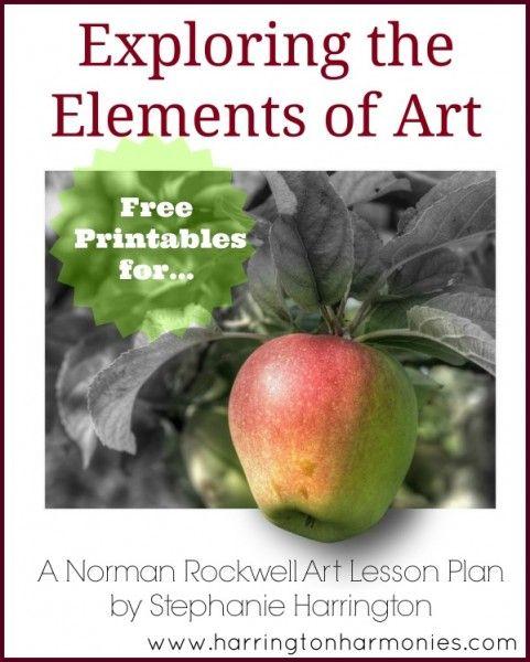 Exploring Art Elements - Printables for A Norman Rockwell Art Lesson Plan | Harrington Harmonies