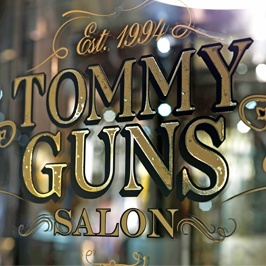 Tommy Guns Salon --- cool name!