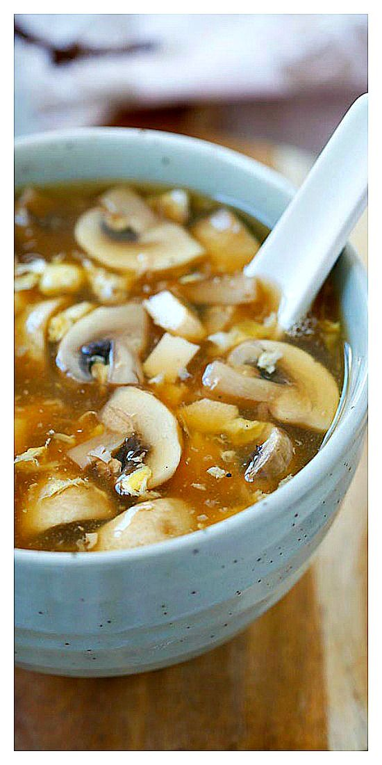 Hot and Sour Soup – the BEST and EASIEST Chinese hot and sour soup recipe ever!! Make with simple ingredients, takes 15 mins and a zillion times better than takeout | rasamalaysia.com