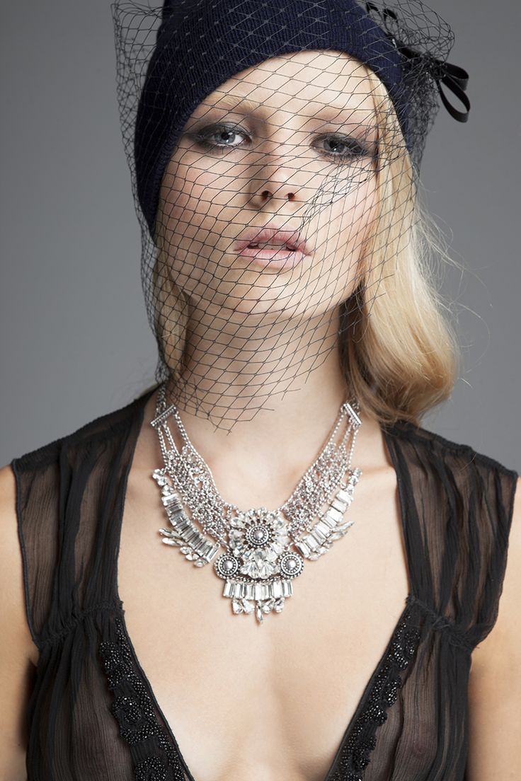 Shameless beauty with our amazing veil beanie in Achilleas Accessories Fall Winter 2015-2016 campaign