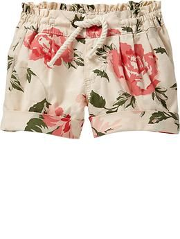Rope-tie shorts for toddler girls. Old Navy. $14.94