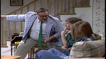Two troubled kids get a talking to from motivational speaker Matt Foley, who lives in a van down by the river.