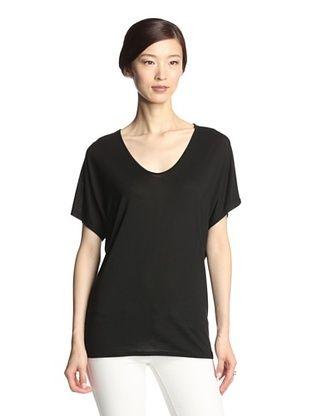 33% OFF NYDJ Women's Drapey Modal Jersey Tee (Black)