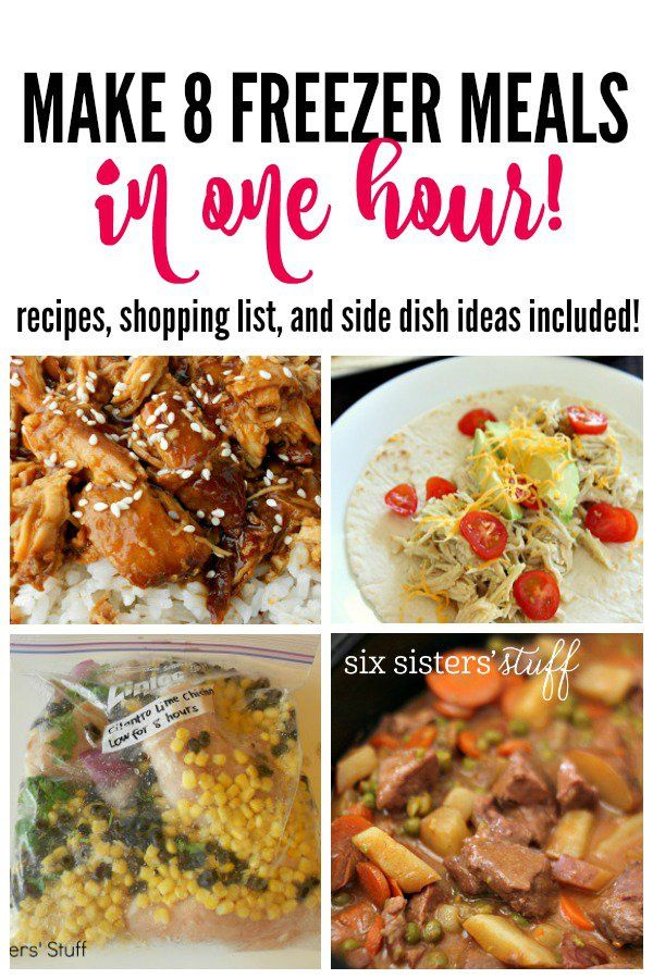 Make 8 Freezer Meals in One Hour on SixSistersStuff.com