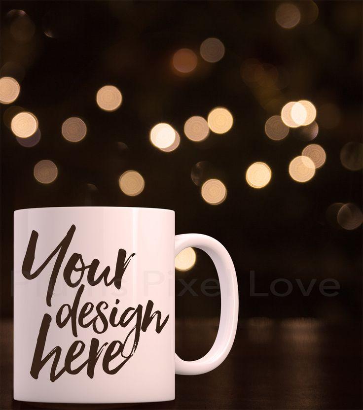 Christmas Styled Stock Mug Mock up, Christmas mockup, blank Coffee Mug, styled Product Photography, space for quote, white mug, xmas mockup by plumspixellove on Etsy