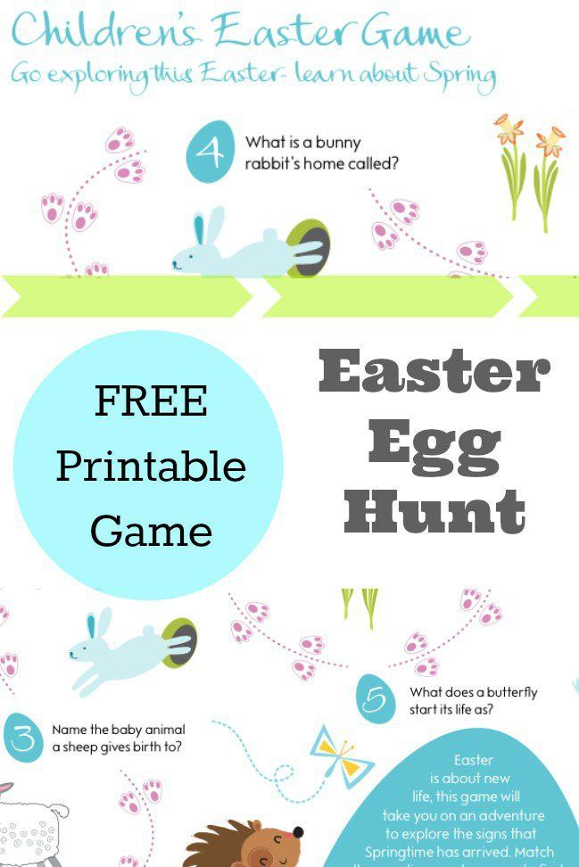 Fun with our Easter Egg Hunt Clues Game - In The Playroom