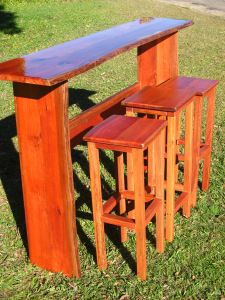 Bar and stools $900.00 Illusive Wood Designs. Custom made furniture