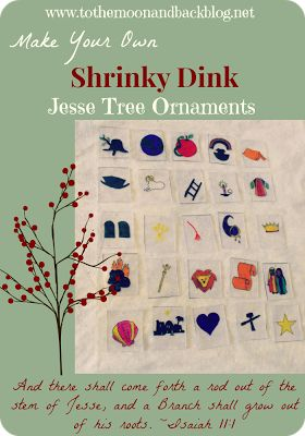 Make Your Own Shrinky Dink Jesse Tree Ornaments