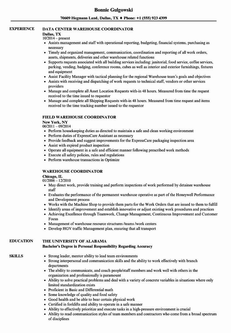 23 Warehouse Job Description Resume in 2020 Sales resume