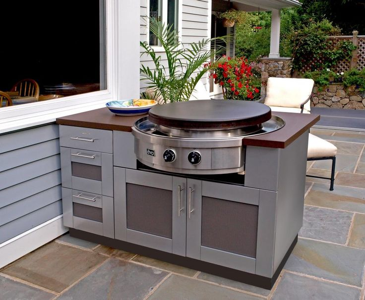 Use Stainless Steel Cabinetry To Create A Small Island On Your Patio For  Essential Cooking Appliances