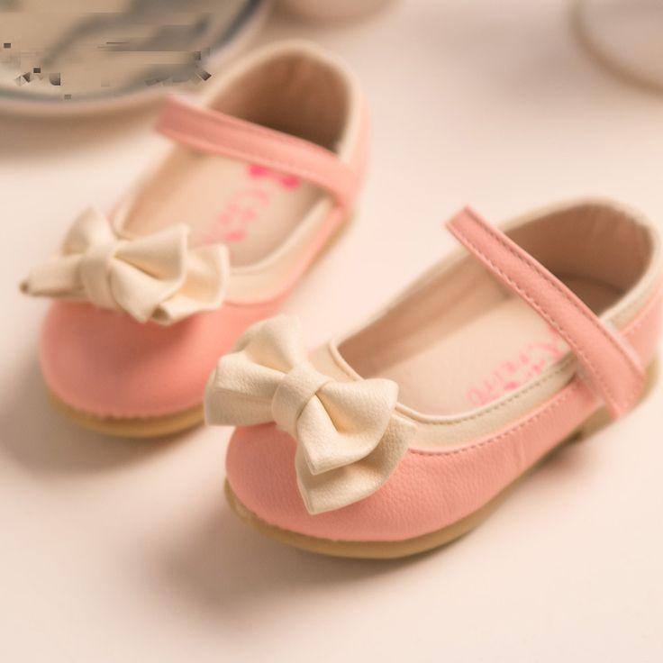 2015 Весенняя Мода детские Лук Девушки Обувь Одного Принцесса, случайные Плоские Туфли sapatos Зи 21-25 S1228