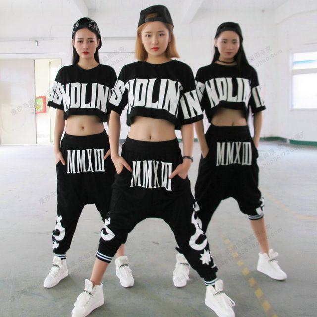 2016 sommer Lose Pluderhosen Frauen Tiefem Schritt Hosen Hip Hop Dance Hosen Punk Harajuku Rock-stil Sportswear Jogger