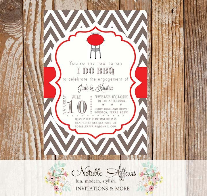11 best backyard bbq invitations images on pinterest backyard bbq i do bbq barbecue backyard party celebration engagement couples shower invitation red and brown colors and wording can be changed by notableaffairs stopboris Image collections