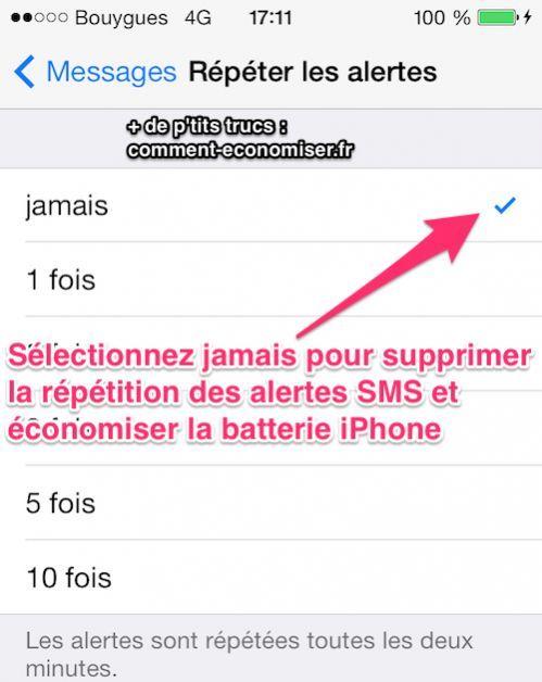 À partir de iOS7, il y a encore plus de notifications à désactiver pour économiser la batterie.  Découvrez l'astuce ici : http://www.comment-economiser.fr/economisez-batterie-iphone-ios7.html?utm_content=bufferac28e&utm_medium=social&utm_source=pinterest.com&utm_campaign=buffer