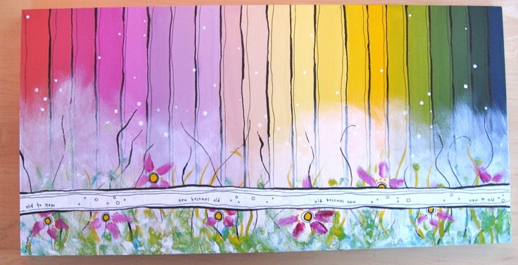 stripey painting for my mom/ by Belinda Fireman