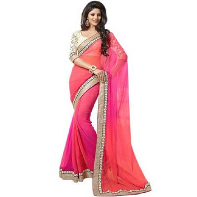 Buy Sudeep Fashions Pink Georgette Saree by  buyer Trendz Fashion, on Paytm, Price: Rs.999?utm_medium=pintrest