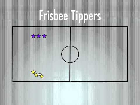 Physical Education Games - Frisbee Tippers - YouTube