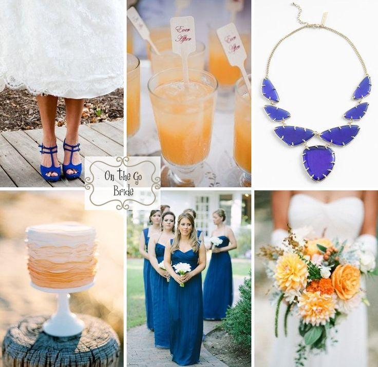 Orange And Blue Wedding Inspiration